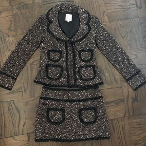 Nanette Lepore tweed blazer skirt set